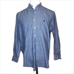 Ralph Lauren Blake Casual Button Down Shirt Blue M